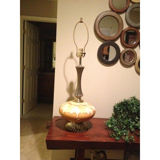 Tall Vintage Hollywood Regency Drip Glaze Lamp Preview