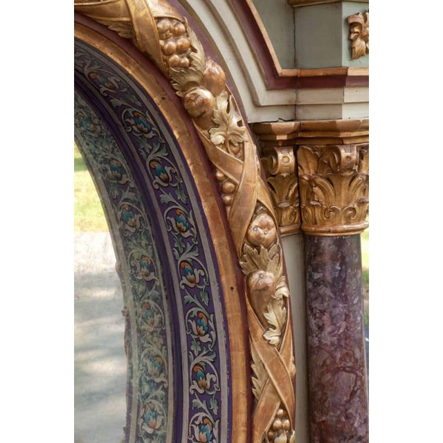 Italian Painted Over Mantel Mirror, 19th Century For Sale In Los Angeles - Image 6 of 10