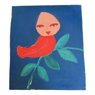 "Earl Swanigan ""Lady Red Bird"" Painting"