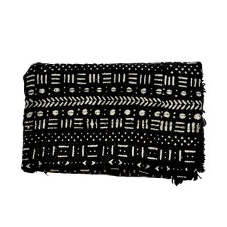 Contemporary Black & White African Cotton Mudcloth Throw