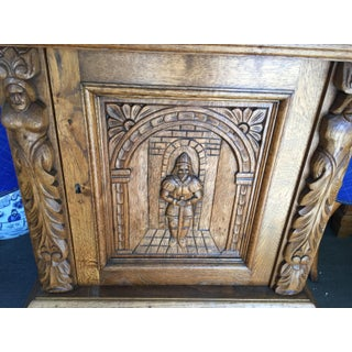 Gothic Revival Wine Bar Cabinet With Carved Front Preview