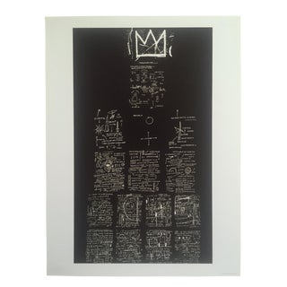 "Jean Michel Basquiat Original Pop Art Abstract Fine Art Print "" Tuxedo "" 1983 For Sale"