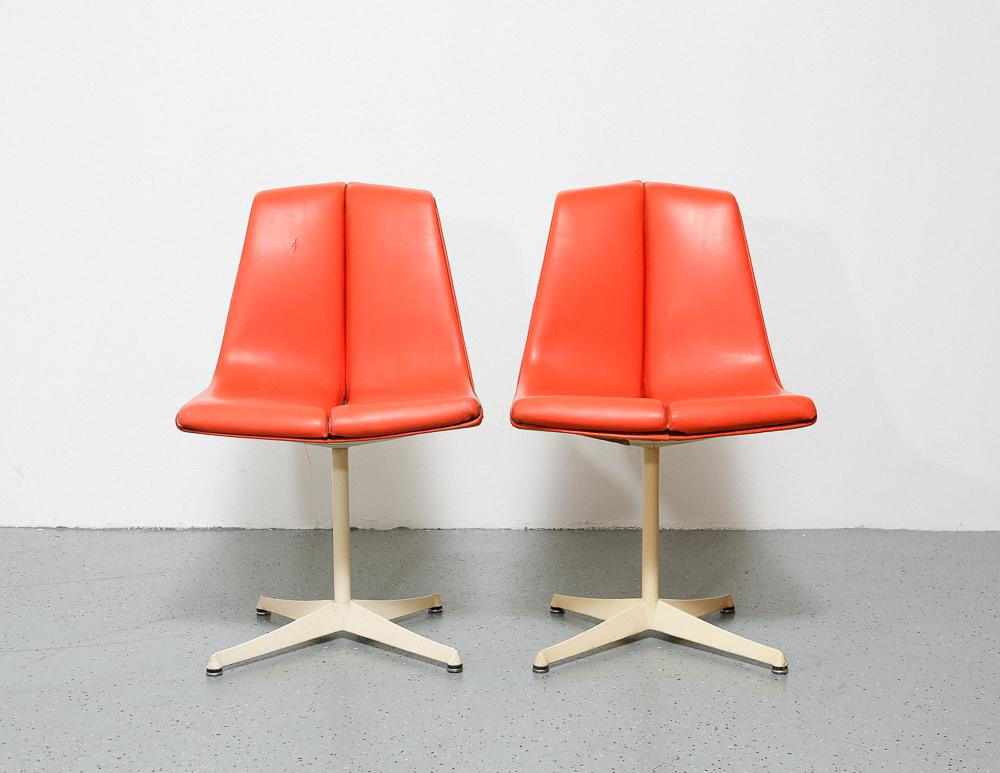 Fabulous Matching Pair Of Side Chairs, Designed By Richard Schultz For  Knolls Art Metal Series