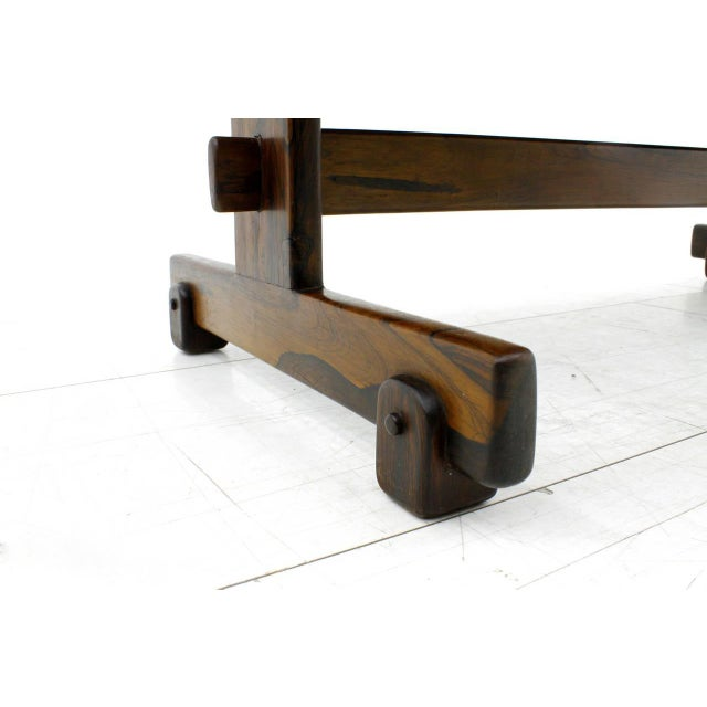 Wood Rare Sergio Rodrigues Coffee Table With Apatit Stone Mosaic Top, Brazil 1964 For Sale - Image 7 of 10