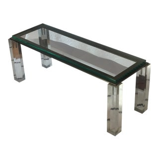 Lucite & Glass Cocktail Table