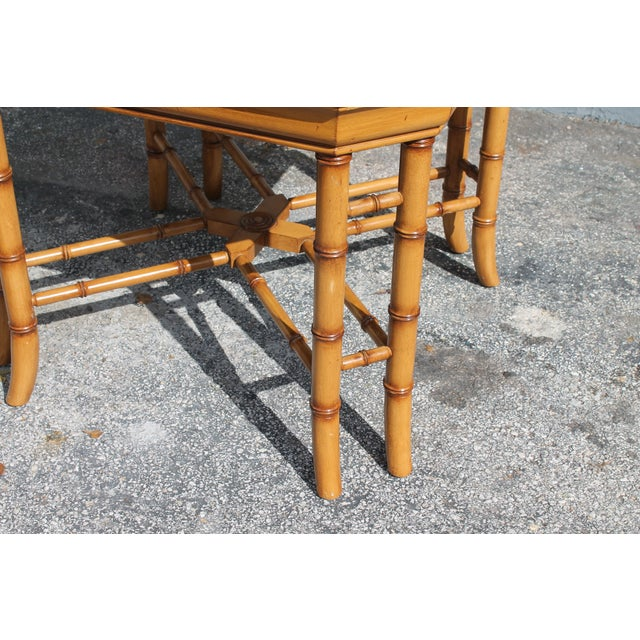 Mid century faux bamboo accent table chairish for Table 6 in as 3725