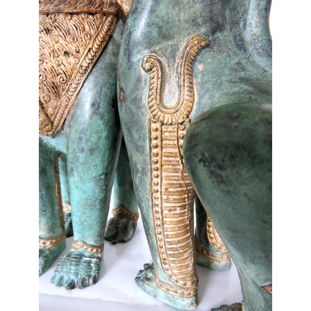 Thai Singha Temple Guardians/Dragons - a Pair For Sale In Tampa - Image 6 of 9