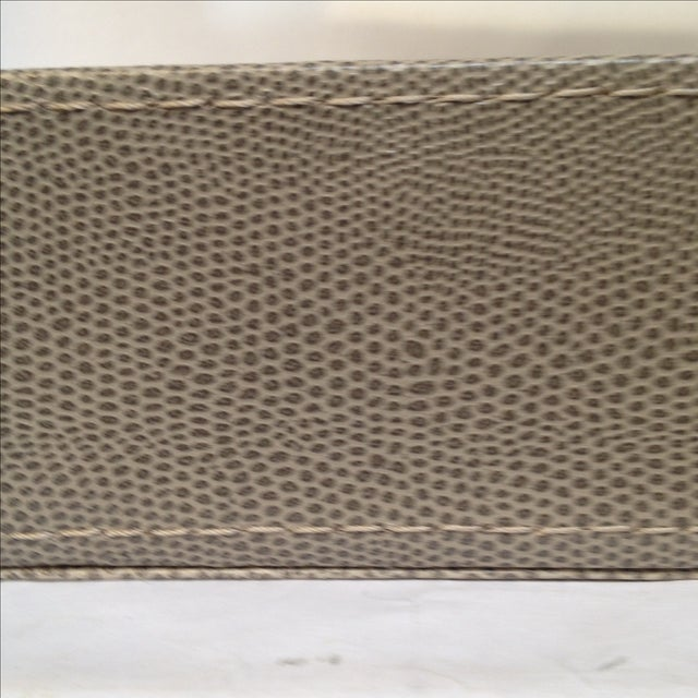 Large Shagreen-Texture Mirrored Tray - Image 5 of 7