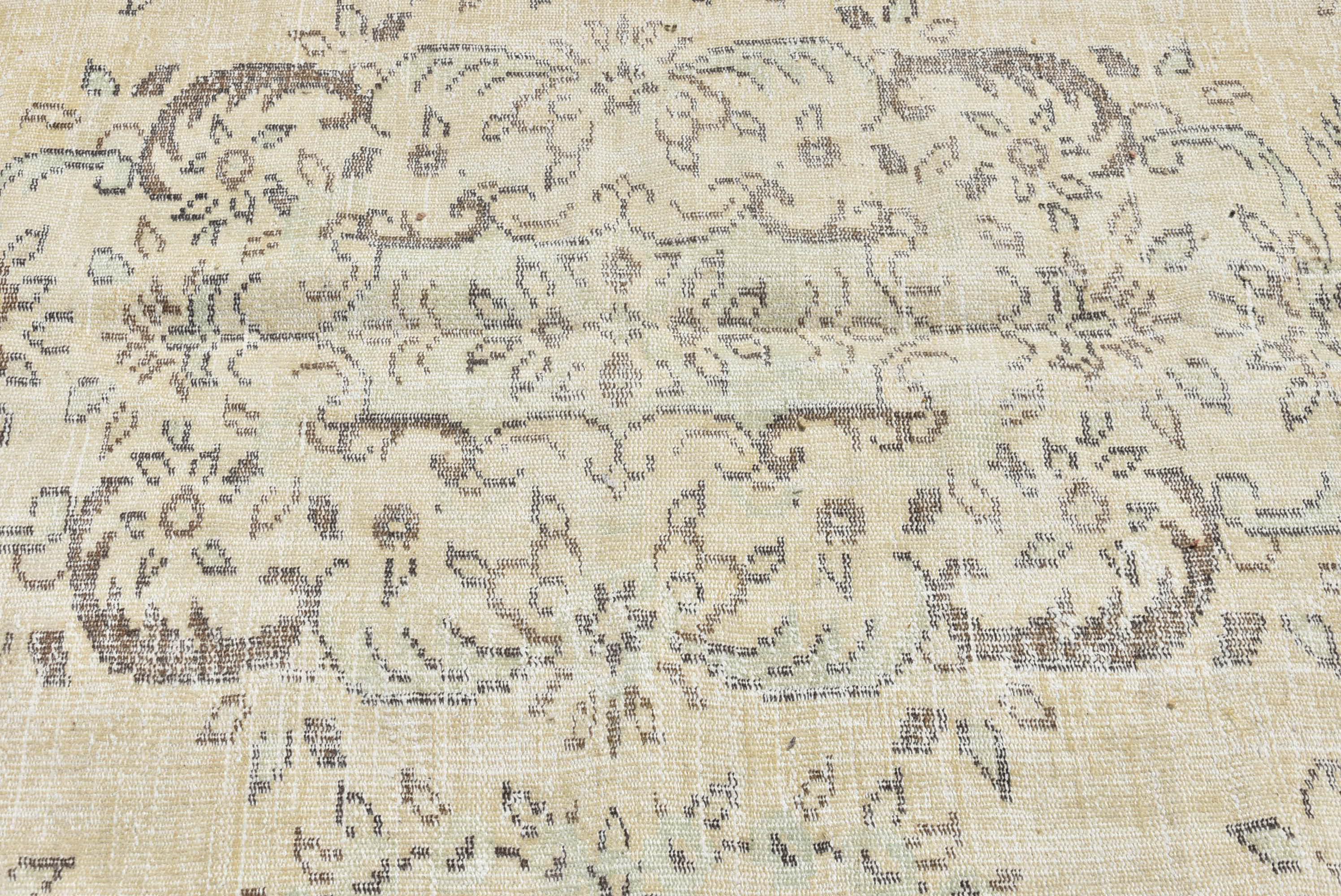 Vintage Turkish Oushak Handwoven Wool Area Rug 6 6 X9 3 Chairish