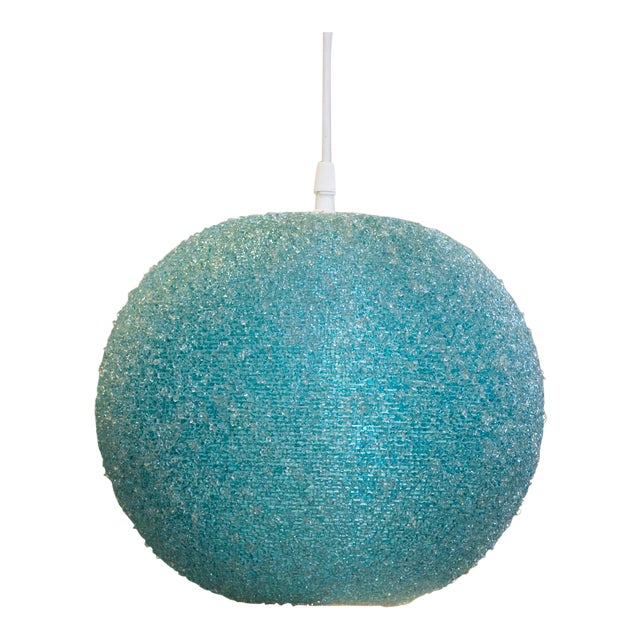 Modern Textured Globe-Shaped Light For Sale
