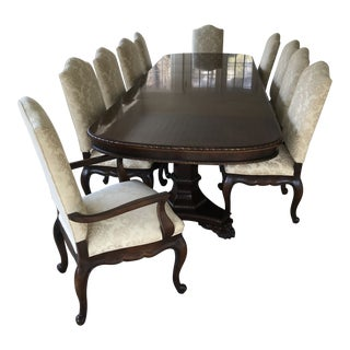 Elegant Century Furniture Formal Dining Table & Dining Chairs For Sale
