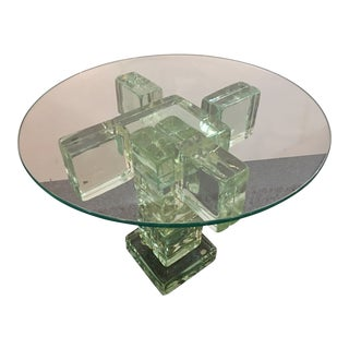 Imperial Imagineering Glass Block End Table For Sale
