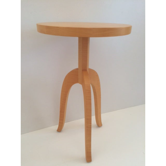 Todd Hase Sycamore Marquetry Gueridon Table For Sale In West Palm - Image 6 of 10