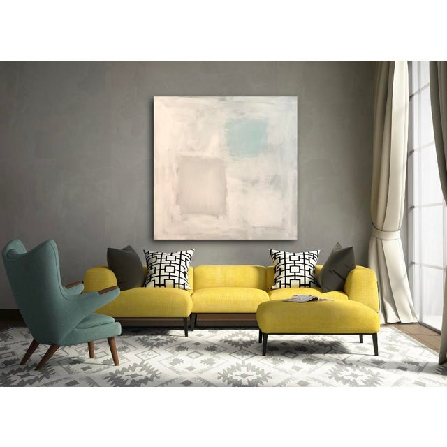 """Abstract """"Abstract With Aqua"""", Sarah Trundle, Contemporary Abstract Painting For Sale - Image 3 of 7"""