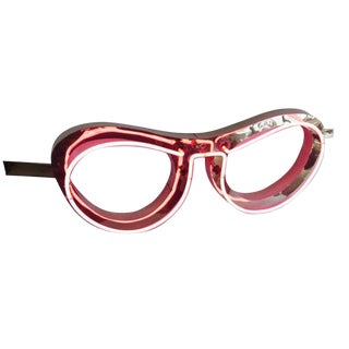 Absolutely Fabulous 1950s Pink Neon Eyeglass Sign