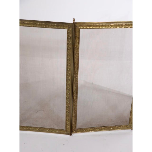 Metal French Folding Fireplace Screen Spark Gard For Sale - Image 7 of 13