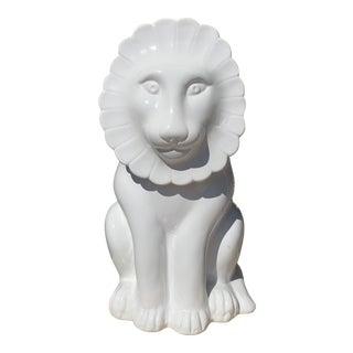 1970s Italian Ceramic Lion Cookie Jar For Sale