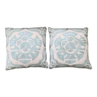 Crewel Embroidered Pillows - a Pair For Sale