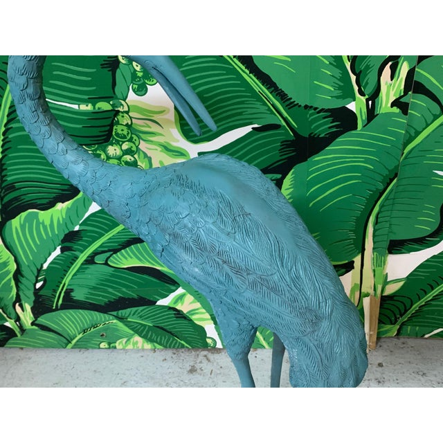 Large Steel Egret Bird Statues, a Pair For Sale - Image 4 of 6