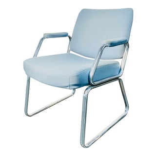 Vintage Steelcase Office Chair in Light Blue For Sale