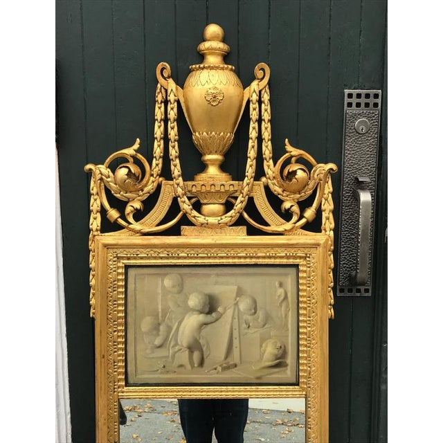 18th Century Neoclassical Mirror With Signed Grisaille by Jacob De Wit For Sale - Image 4 of 6