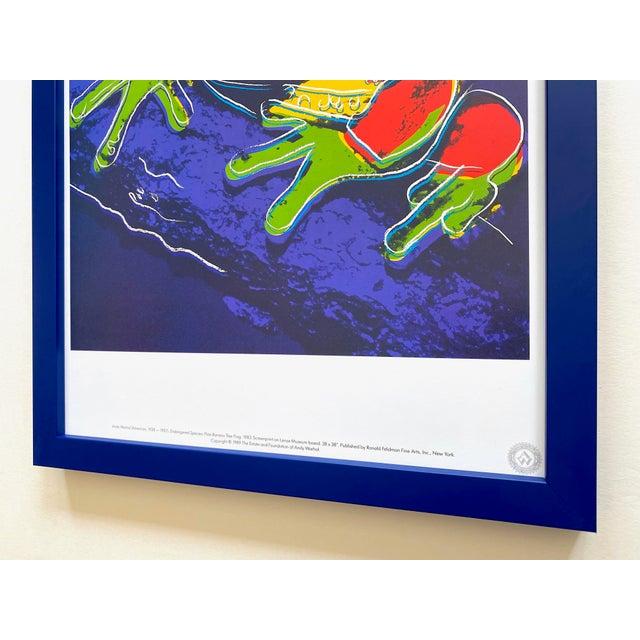 """Andy Warhol Estate Vintage 1989 Endangered Species Framed Lithograph Print """" Pine Barrens Tree Frog """" 1983 For Sale - Image 12 of 13"""
