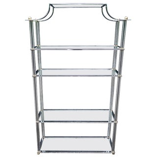 Smashing Billy Baldwin Style Mid-Century Modern Etagere For Sale