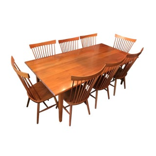 Shaker Dining Table in Solid Cherry & 8 Chairs