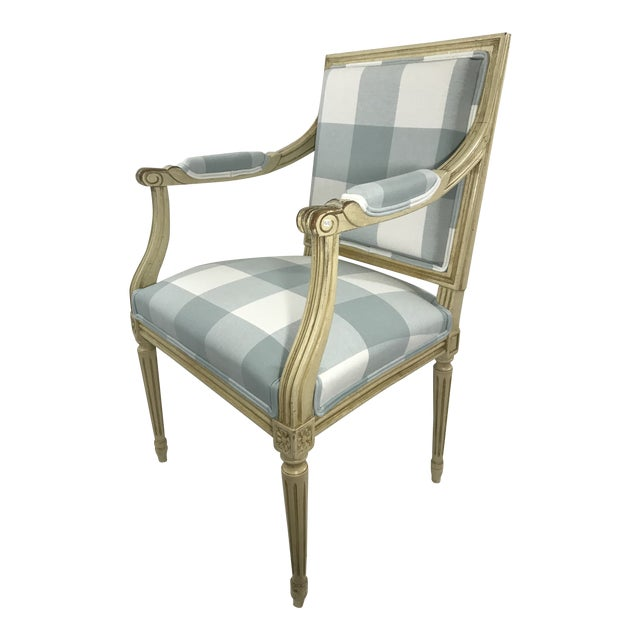 Louis 16th Style Arm Chair For Sale