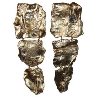 Fragment Drop Clip Earrings For Sale