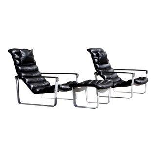 Asko Pulkka Chair & Ottoman For Sale