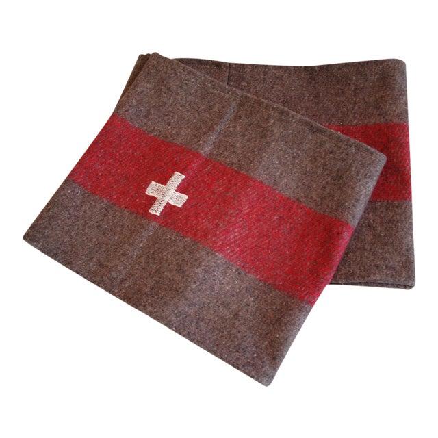 Custom Tailored Swiss Wool Blanket Table Runner For Sale