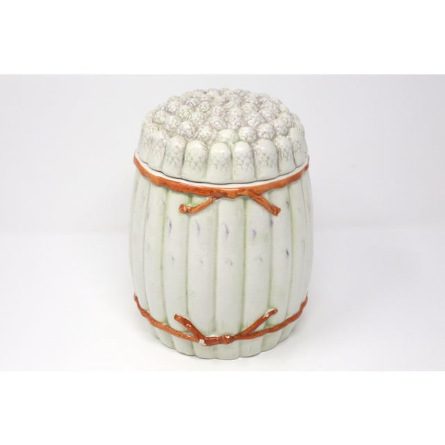Vintage Italian White Asparagus Jar or Canister For Sale - Image 13 of 13