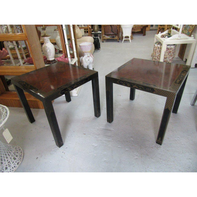 Asian Inspired Drexel Side Tables - a Pair - Image 3 of 9