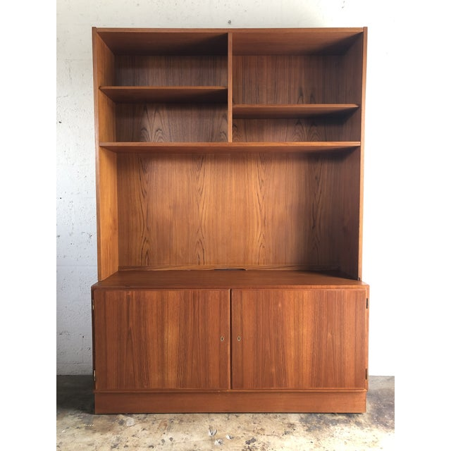 Vintage Mid Century Danish Modern Filing Cabinet With Hutch by Poul Hundevand For Sale - Image 13 of 13