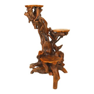 American Adirondack Style Root Pedestal For Sale