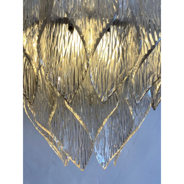 Mid Century Modern Lucite Chandelier With Layered Petals For Sale In Philadelphia - Image 6 of 7