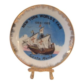 New York Worlds Fair Dish 1964-1965 For Sale