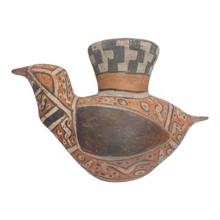 Authentic Large Pre Columbian Bird Vessel From Major Auction House For Sale