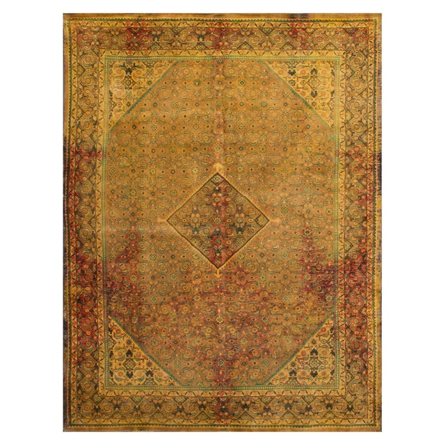 """Vintage Persian Overdyed Rug - 9'9"""" x 12'9"""" - Image 1 of 3"""