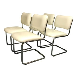 Vintage Mid-Century Modern Cantilever Chairs - Set of 4 For Sale