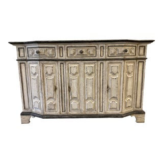 Italian Painted Credenza Buffet - Early 20th C For Sale
