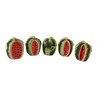 Country Style Ceramic Watermelon Shakers - Set of 5