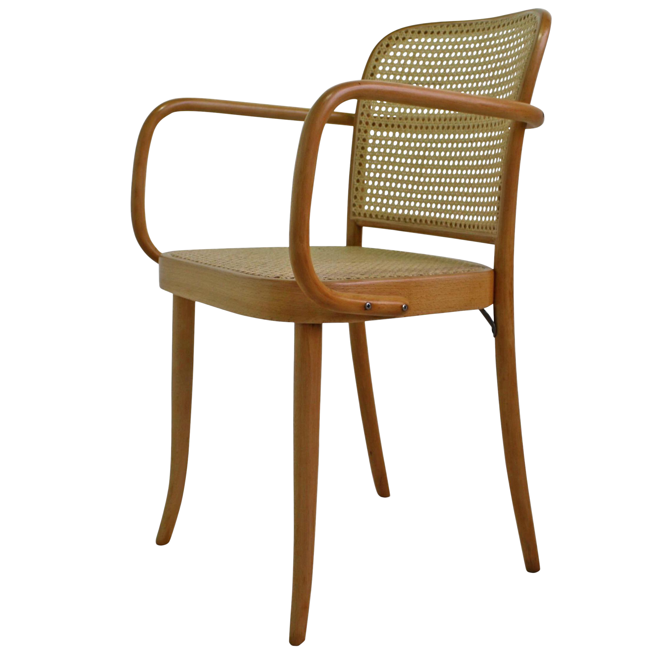 Vintage Bentwood U0026 Cane Arm Chair In The Style Of Michael Thonet