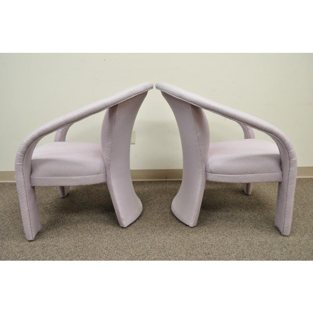 Carson's Sculptural Mid-Century Modern Lounge Chairs - A Pair - Image 5 of 11