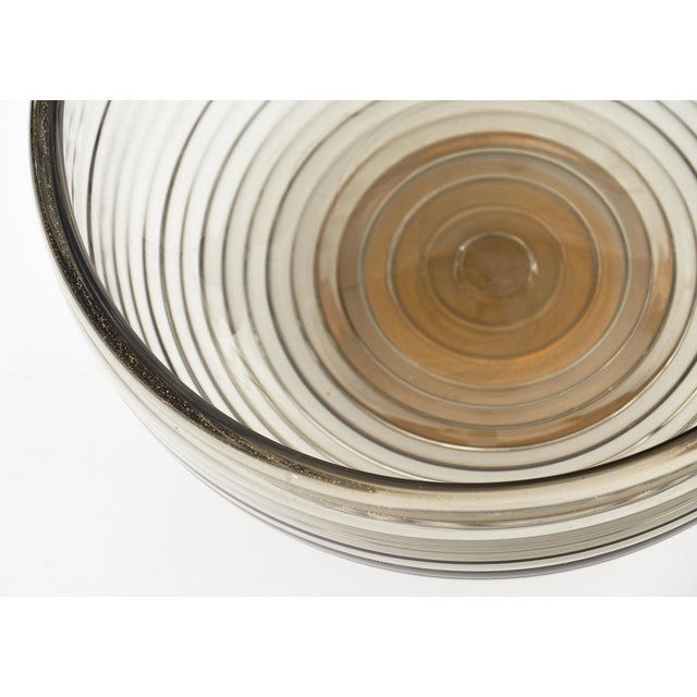 Contemporary Gray and Avventurina Murano Glass Bowl For Sale In Austin - Image 6 of 11