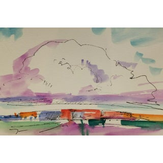 Jose Trujillo New Art Study Contemporary Work Original Watercolor Painting For Sale