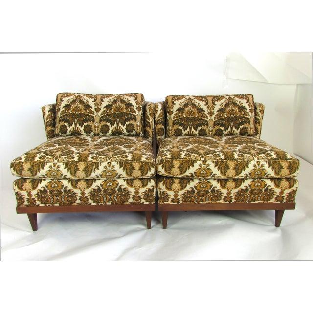 Mid-Century Upholstered Slipper Chairs - A Pair - Image 2 of 10