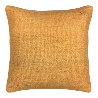 "Accent of Apricot Kilim Pillow | 16"" For Sale"
