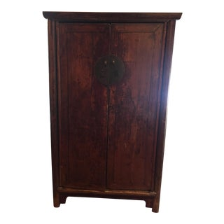 Asian Pagoda Red Cabinet